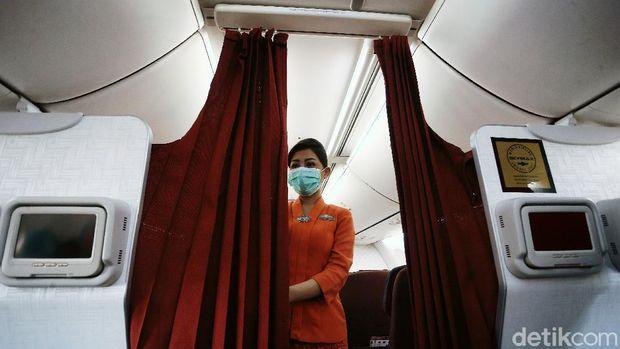 Filter penyaring sirkulasi udara milik Garuda Indonesia.