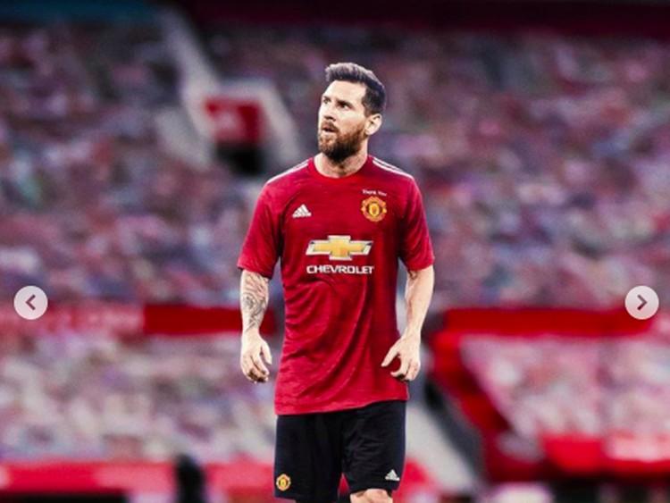 Netizen bikin heboh dengan mengedit Lionel Messi berseragam klub lain, bukan lagi Barcelona.