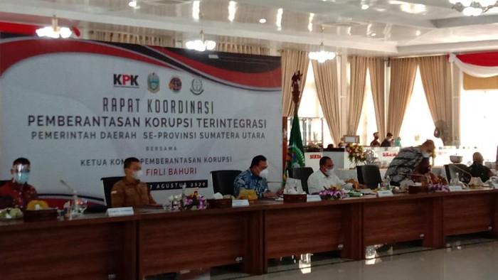 Rapat koordinasi pemberantasan korupsi di Sumatera Utara (Ahmad Arfah-detikcom)