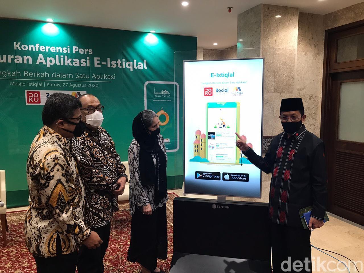 Suasana peluncuran aplikasi E-Istiqlal