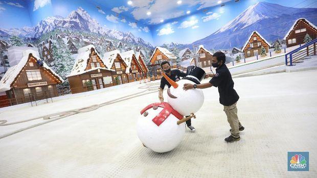 Trans Snow Bintaro. (CNBC Indonesia/Andrean Kristianto)