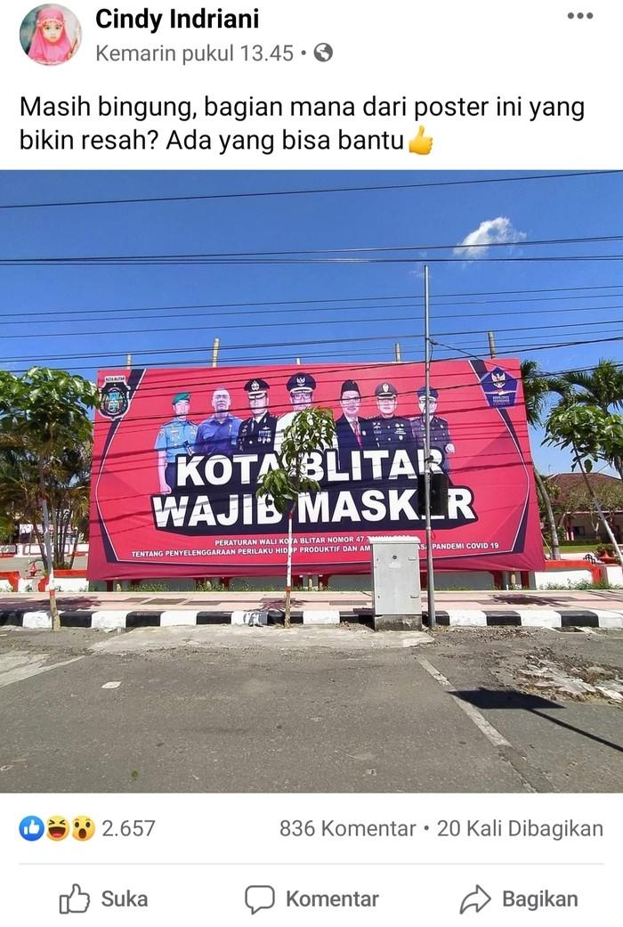 viral baliho wajib masker