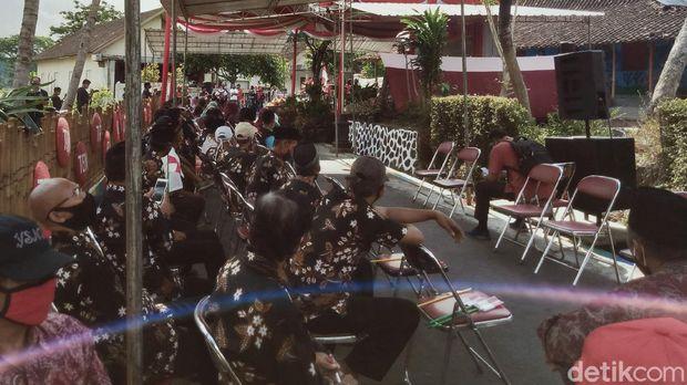 Acara panen raya yang dihadiri Bupati Klaten Sri Mulyani, Jumat (28/8/2020).