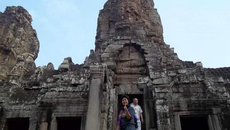 Kuil Bayon di Siem Reap, Kamboja.
