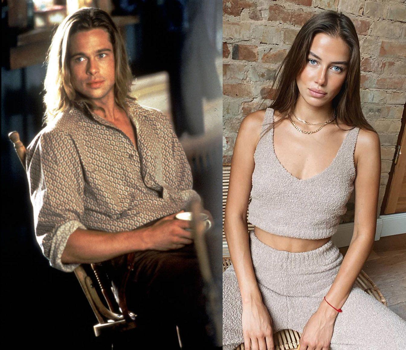 Brad Pitt dan Nicole Poturalski