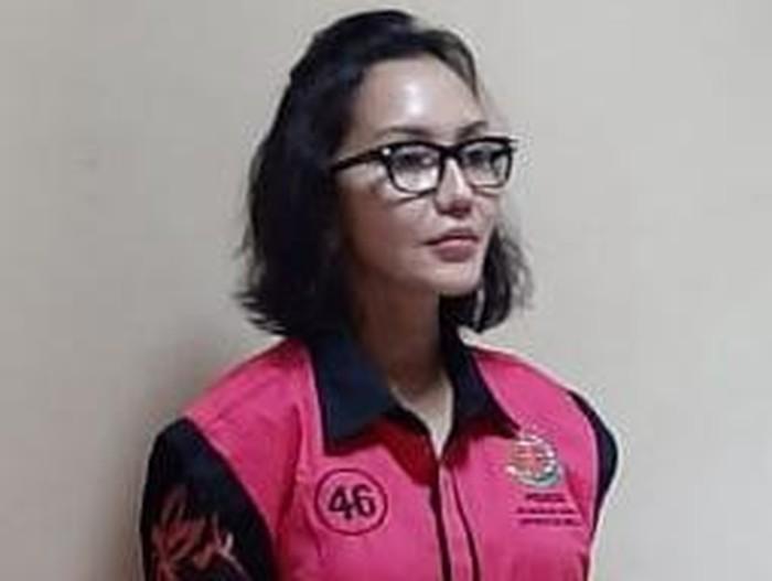 Jaksa Pinangki berompi tahanan Kejagung warna pink