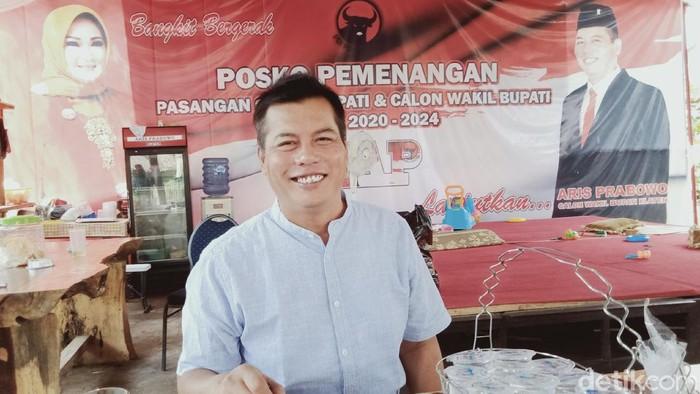 Kader PDIP, Aris Prabowo yang dicoret dari bacawabup Klaten dan diganti politikus Golkar, Jumat (28/8/2020).