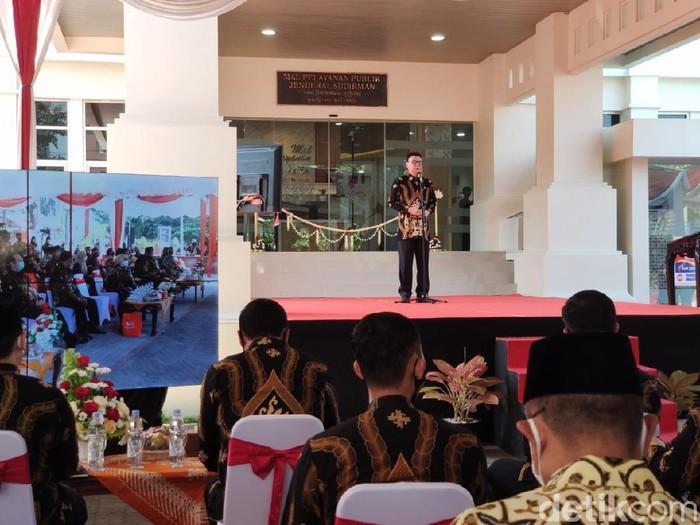MenPAN-RB Tjahjo Kumolo resmikan Mal Pelayanan Publik di Solo, Jumat (28/8/2020).