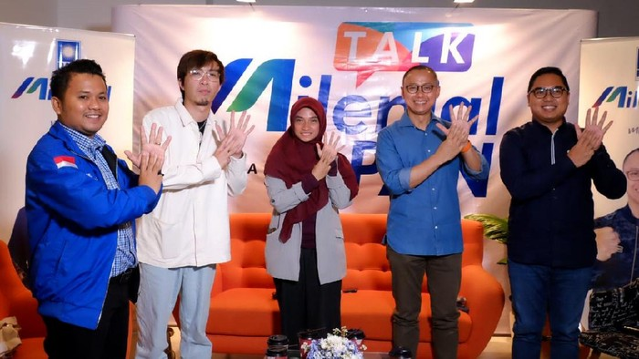 PAN menggaet generasi milenial untuk menjadi pemimpin. Pasalnya bagi PAN generasi milenial adalah penentu Indonesia masa depan.