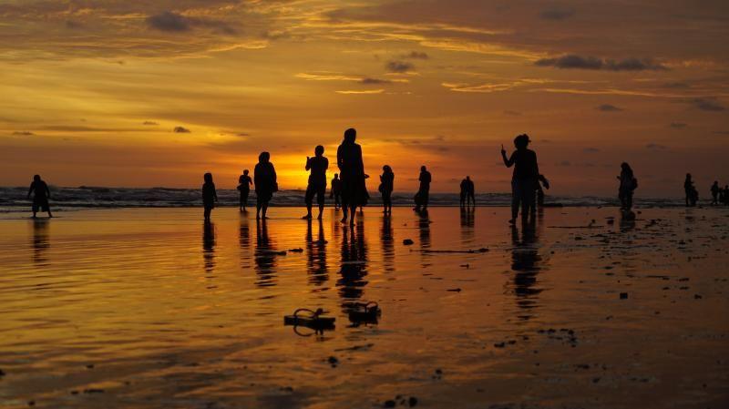 Sunset di Pantai Parangtritis.