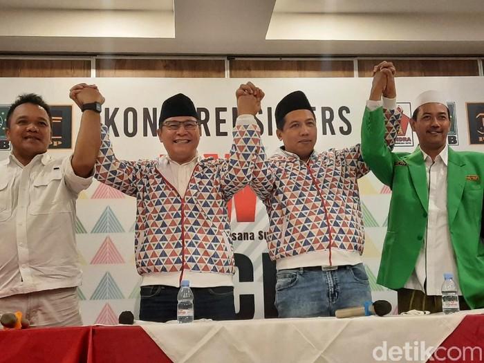 Pasangan bakal calon Bupati Sleman dan Wakil Bupati Sleman Danang Wicaksana-Agus Choliq Kamis (28/8/2020).