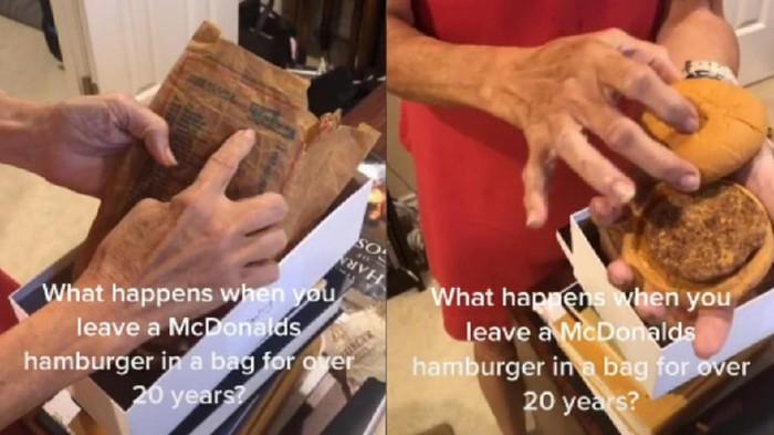 Burger McD Disimpan Selama 24 Tahun