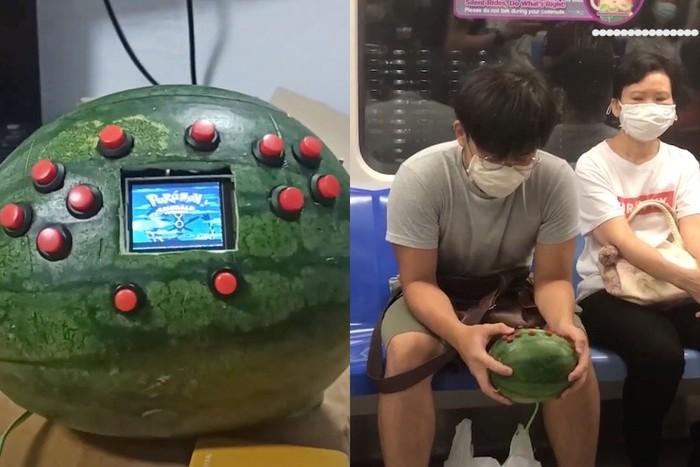 Mahasiswa Ini Ciptakan Game Boy dari Buah Semangka