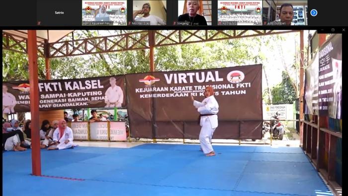 Federasi Karate Tradisional Indonesia (FKTI) menggelar kejuaraan nasional karate virtual, Sabtu (29/8/2020), dan diikuti 363 karateka di seluruh Tanah Air.
