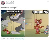 Arsenal menjuarai Community Shield setelah mengalahkan Liverpool. Meme kocak Liverpool gagal juara pun bertebaran di media sosial.