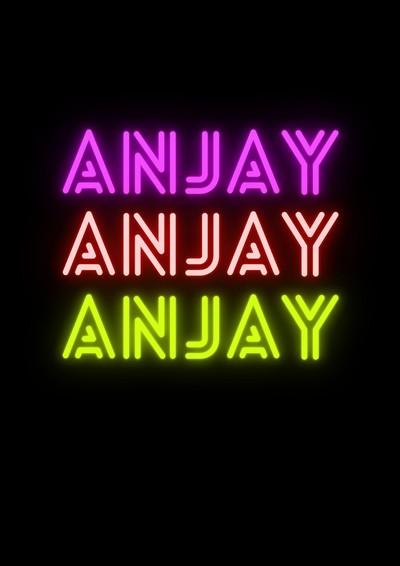 Ilustrasi kata Anjay