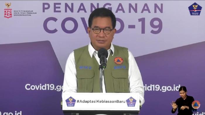 Juru bicara Satgas Penanganan COVID-19, Wiku Adisasmito (YouTube BNPB)