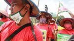 Petani Sumut Kembali Demo, Kini Bawa Bendera 100 Meter