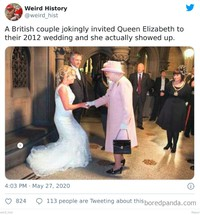 Foto bisa menjadi media mengenang masa lalu yang indah. Berikut ini adalah beberapa contoh di antaranya, ada Queen Elizabeth II kondangan, loh.