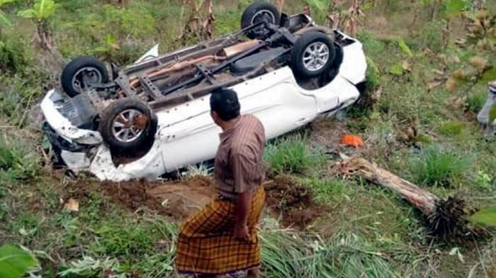 Mobil Masuk Jurang di Sukabumi
