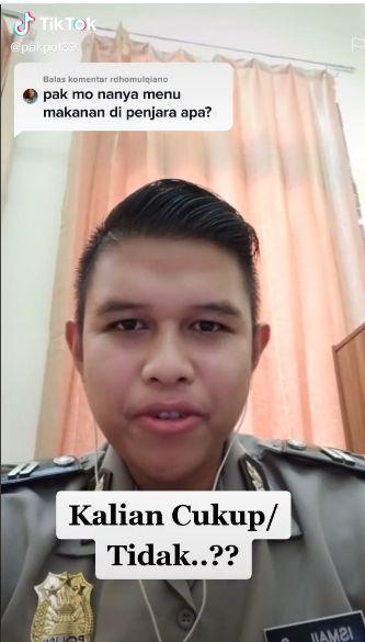 Polisi di Makassar Ini Beberkan Makanan Sederhana Napi di Penjara