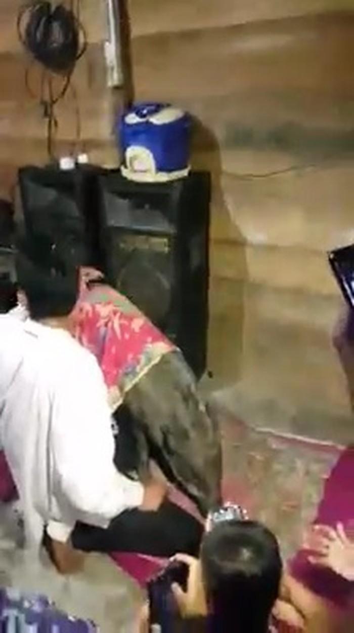 Screenshot viral babi hutan jadi jinak ikut warga pulang di Sumsel (dok. Istimewa)