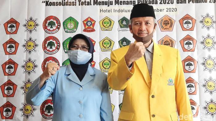 Golkar, NasDem dan PKS memberikan dukungan kepada Sri Muslimatun-Amin Purnomo di Pilkada Sleman, Selasa (1/9/2020).