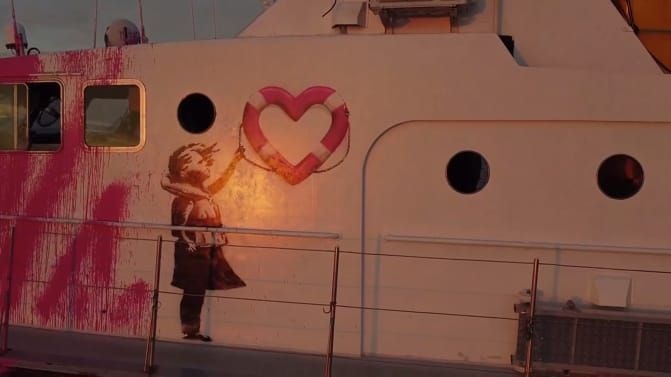 Kapal penyelamat imigran Banksy