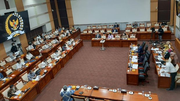 RDP Komisi I DPR dengan pemerintah membahas RUU Perlindungan Data Pribadi, Selasa (1/9/2020).