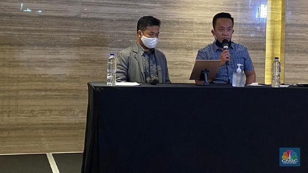 Konferensi Pers Jouska (CNBC Indonesia/Shalini)