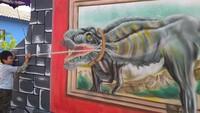 Di tangan orang kreatif, tembok rumah lawas milik warga Kampung Malangan RT 03 dan RT 04/RW 13, Kelurahan Tidar Utara, Kecamatan Magelang Selatan, Kota Magelang, dilukis dengan lukisan tiga dimensi (3D) yang keren.