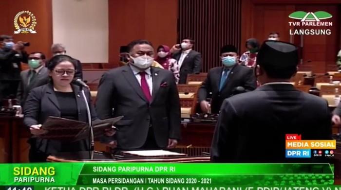 Pelantikan PAW anggota DPR F-Gerindra