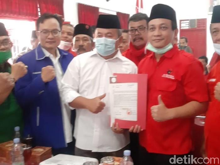 Achmad Afzan Arslan Djunaid (Aap) dan Solahudin maju pilkada Kota Pekalongan lewat PDIP, Rabu (2/9/2020).