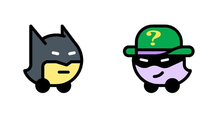 Batman di Aplikasi Waze