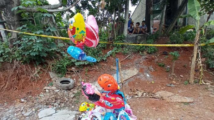Lokasi ledakan tabung gas balon di Depok. (Foto: Jehan/detikcom)