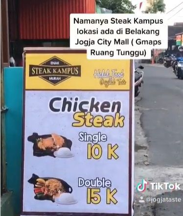 Steak Viral di Yogyakarta Rp 10 Ribuan