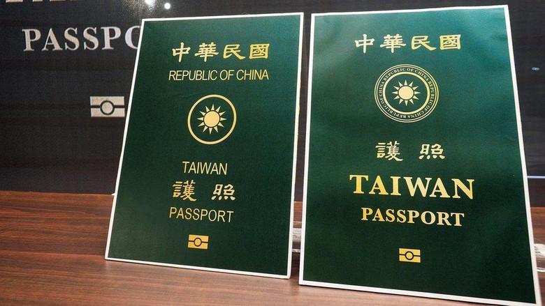 Desain terbaru paspor Taiwan membesarkan kata Taiwan, menciutkan kalimat Republik China