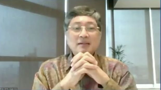 Direktur Utama BTPN Ongki W. Dana (Tangkapan Layar Webinar)