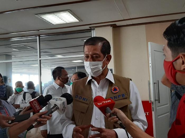 Ketua Satgas Penanganan COVID-19, Doni Monardo di kompleks DPR, Senayan, Jakarta, Kamis (3/9/2020).