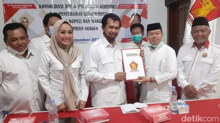 Gerindra dukung Sukiman-Iriyanto di Pilkada Sragen, Kamis (3/9/2020).