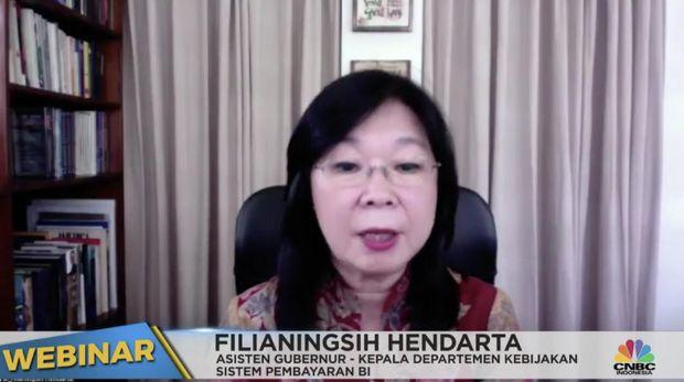 Kepala Departemen Kebijakan Sistem Pembayaran BI Filianingsih Hendarta (Tangkapan Layar)