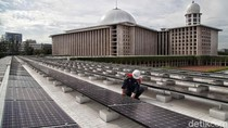 Keren! Kini Masjid Istiqlal Pakai Energi Surya