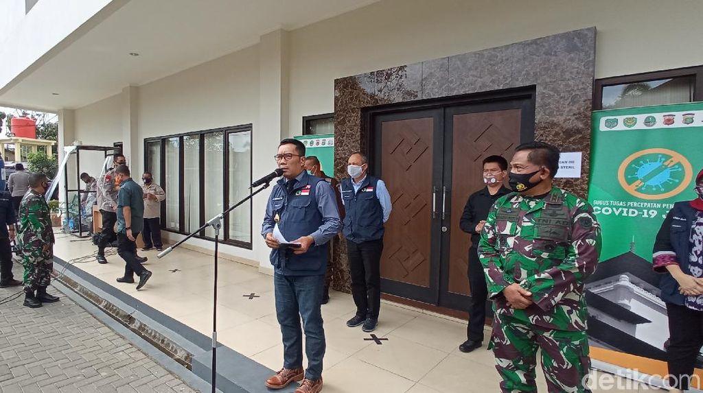 Data Okupansi RS di Jabar, Ridwan Kamil: Depok Mengkhawatirkan