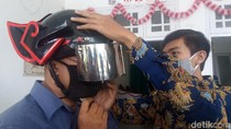 Bukan Gundala, Ini Helm Canggih Pendeteksi Suhu Tubuh