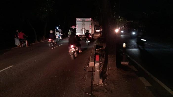 Lokasi kecelakaan maut bocah boncengan tiga di Buaran, Jaktim