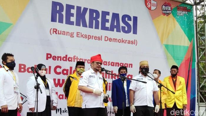 None-Zunun daftar ke KPU Makassar (Hermawan-detikcom).