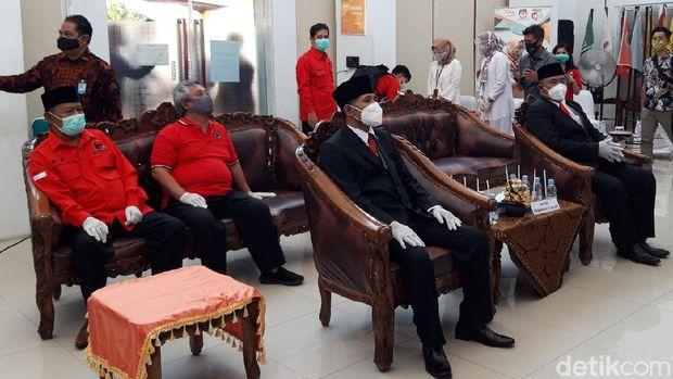Pasangan M Said Hidayat-Wahyu Irawan mendaftar Pilkada Boyolali, Jumat (4/9/2020).
