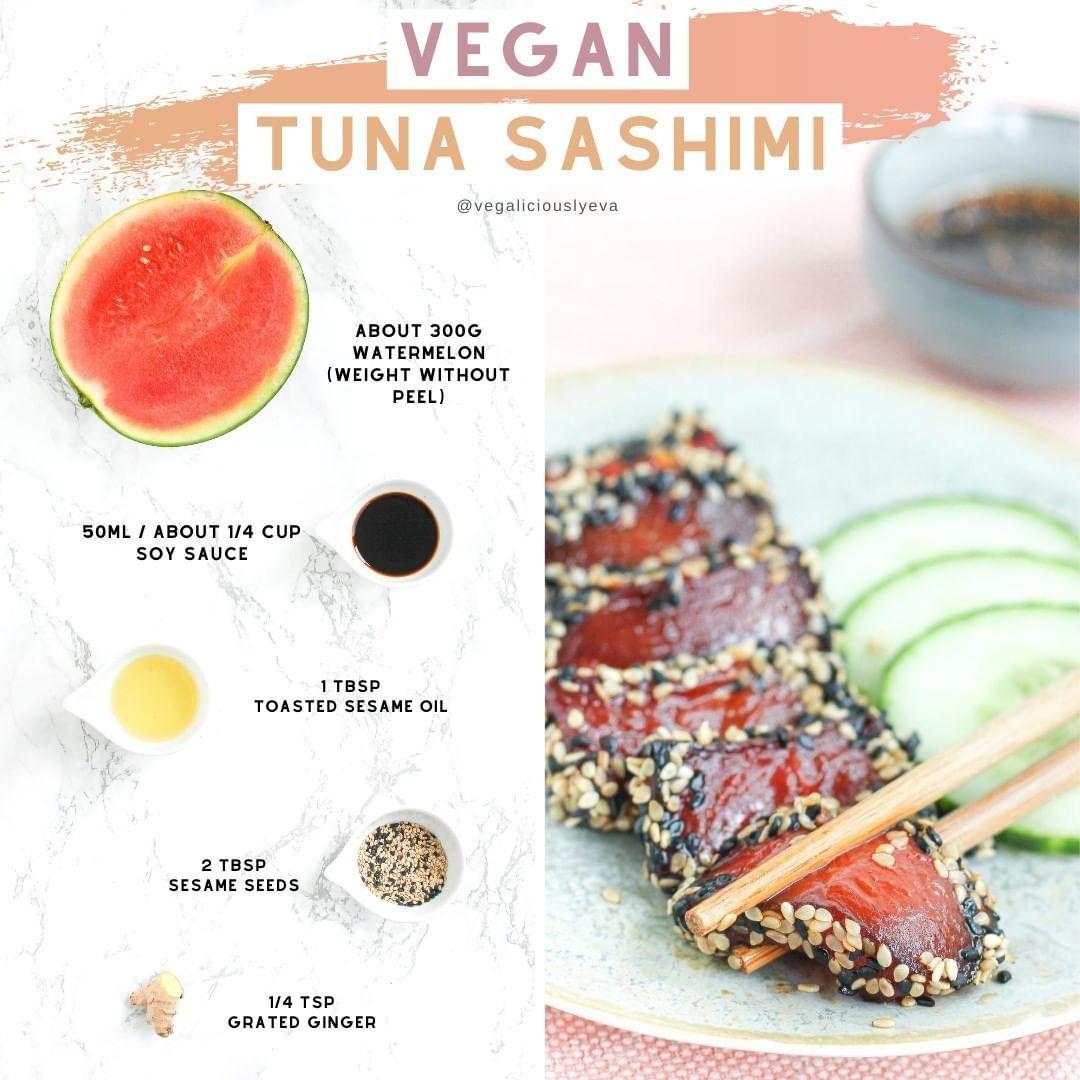 Sashimi Vegan dari Semangka