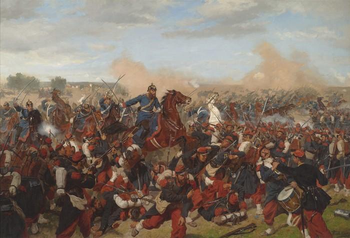 Battle of Mars-La-Tour, August 16,1870 by Emil Hünten. Circa 1870 (Rauantiques/Wikimedia Commons)