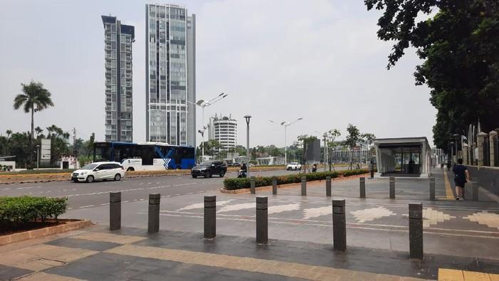Lokasi penjambretan virak di Jalan Sudirman